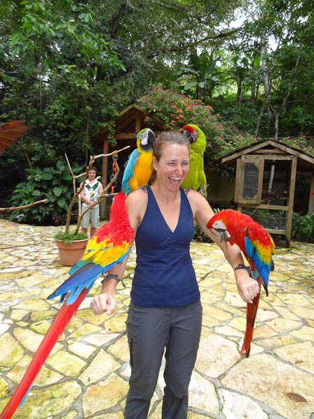 Maria Mihok at bird park