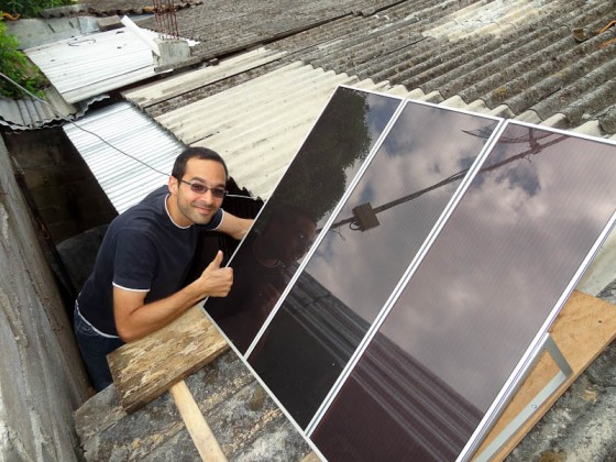 Installing A Solar Panel In Honduras