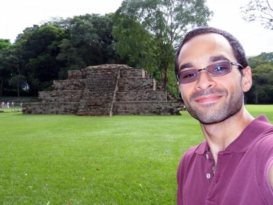 Me At Copan Ruinas Pyramid