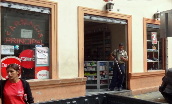Security Guard At A Pharmacy