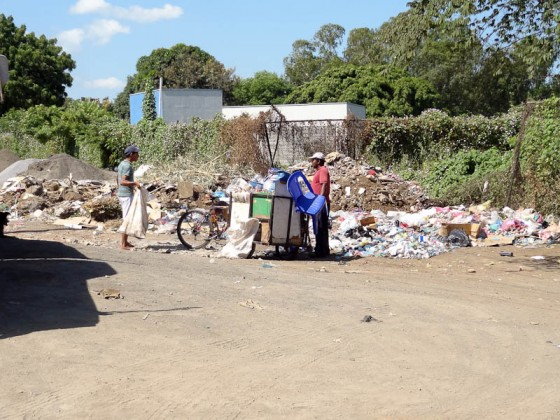 Garbage Next To A Bus Station In Managua, Nicaragua