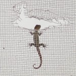 A Laughing Gecko Deciding Whether To Climb Through A Hole In A Screen In Costa Rica