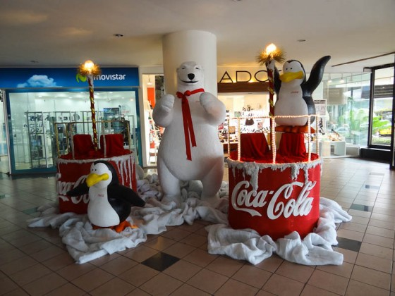 Christmas Decorations In A Mall