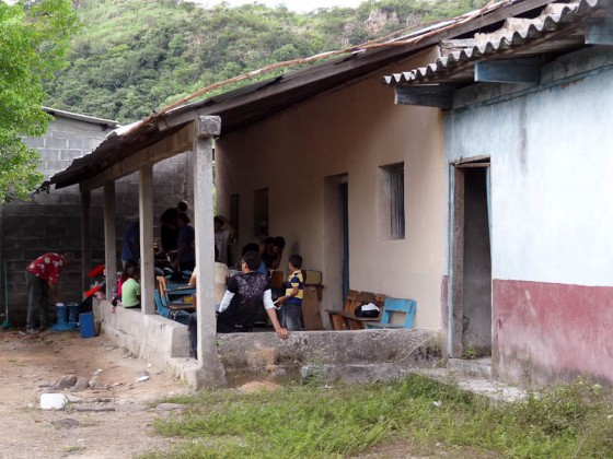 Front Of The Temporary Clinic