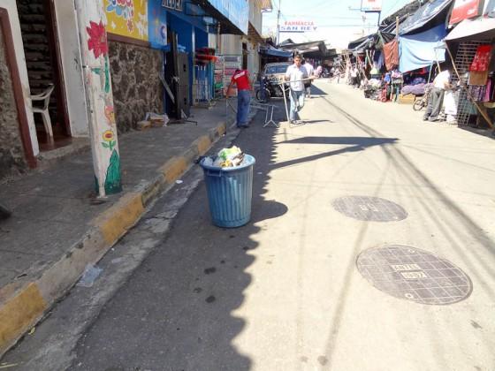 Garbage Can In San Francisco Gotera, El Salvador