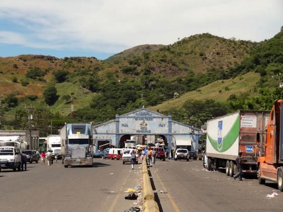 Honduras Border With El Salvador In The Background