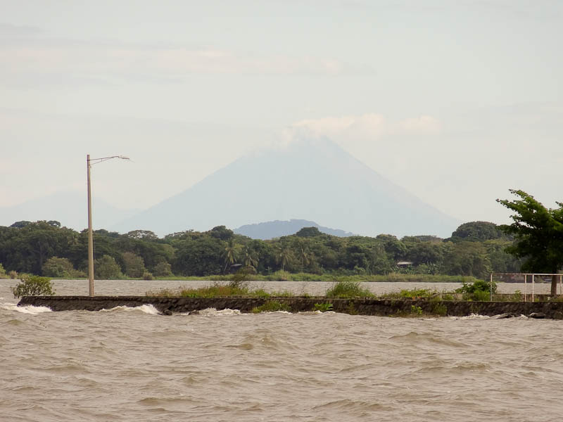Lake - Volcano In The Distance