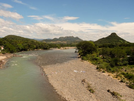 River Separating Honduras (right) and El Salvador (left)