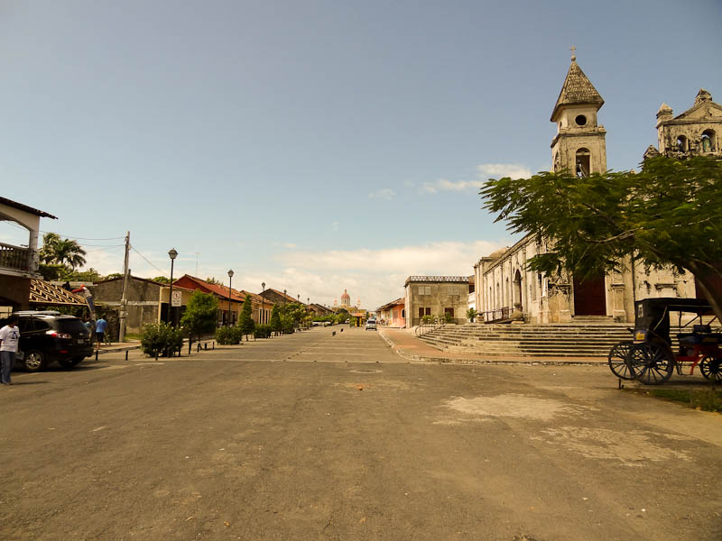 View Of City From End Of Tourist Street