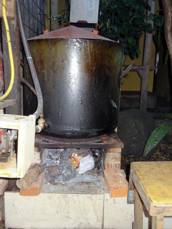 Wood Burning Hot Water Tank