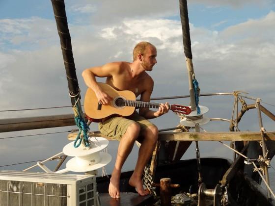 Jay Playing His Guitar