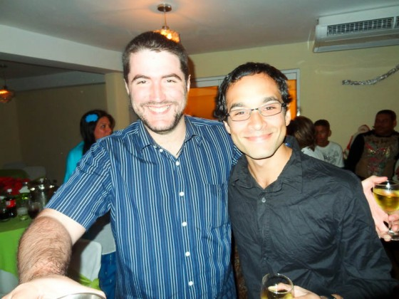 My Friend Luis And I On New Year's Eve In Venezuela