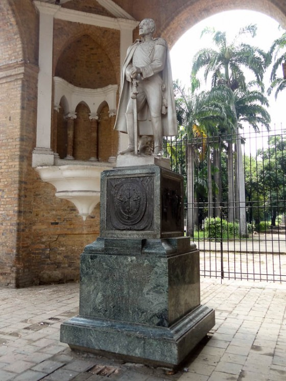 Monument in Parque de Gran Colombia