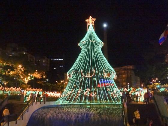 Plaza Altimira At Night