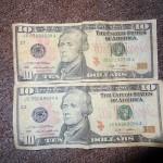 Counterfeit $10 Bill