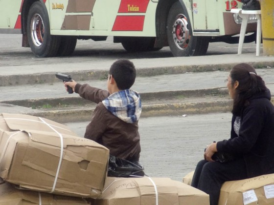A Kid With A Toy Gun