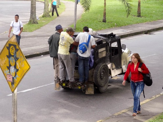 Jeep Transport In Colombia