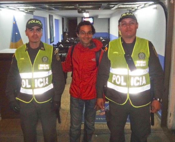 Me With The Police After Being Robbed In Colombia