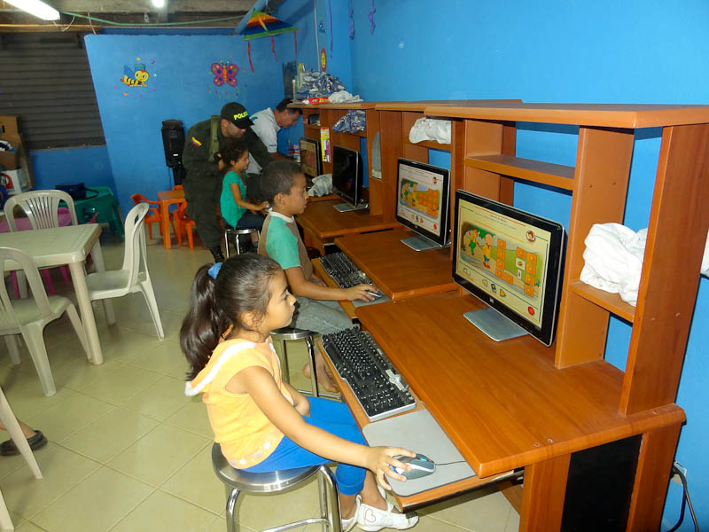 The Kids Using The Computers