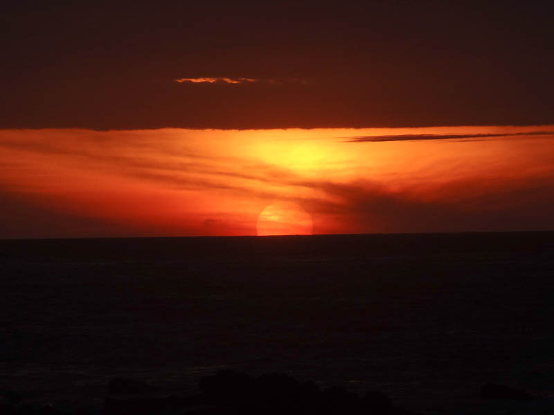 Sunset Into The Pacific - Taken 15-Mar-2012 - Mancora, Peru