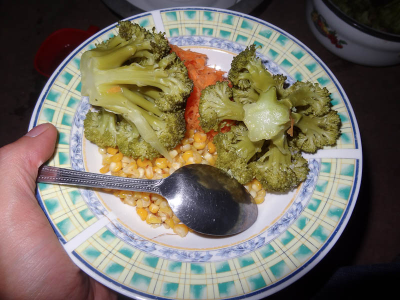 Broccoli, Carrots, And Corn
