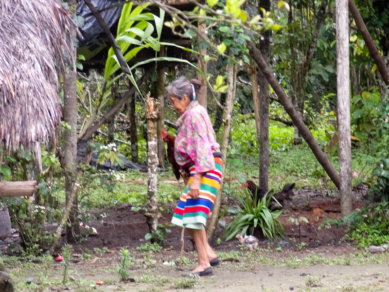 Grandma Wearing The Traditional Skirt