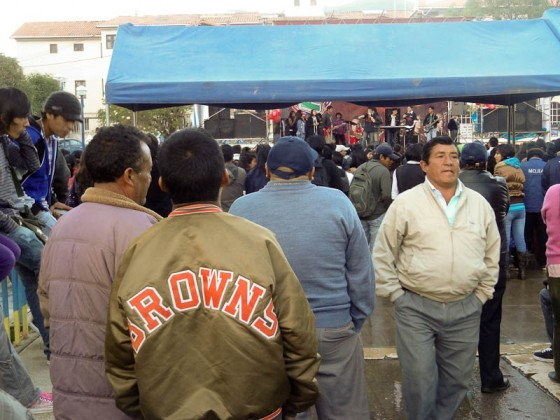 Cleveland Browns Jacket At A Public Concert