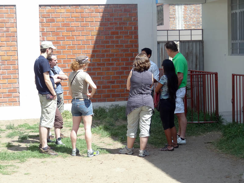 French Tourists Learning About Rayo de Sol