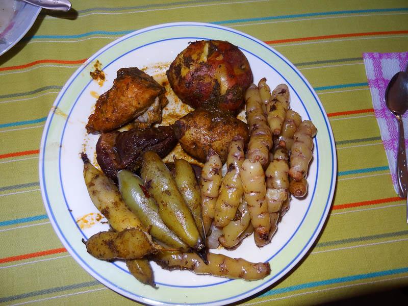 Panchamanca (Meat, Potatoes, Oca)