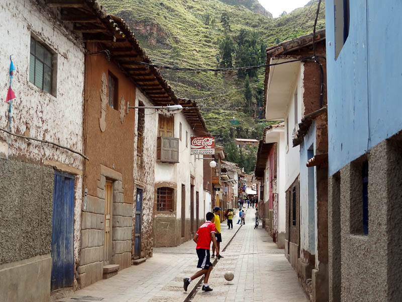 Playing Soccer In The Narrow Streets