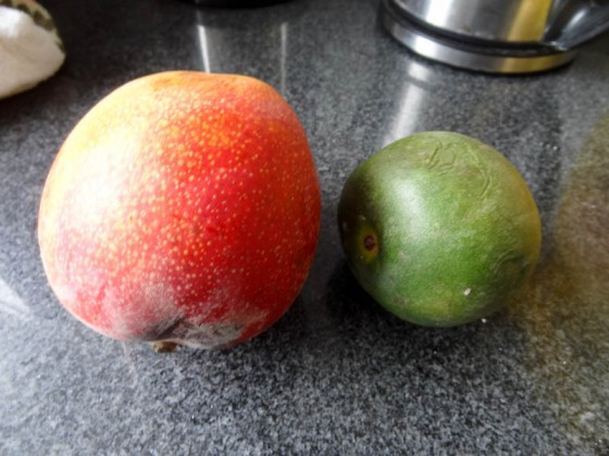 1 Start With A Mango And A Lucuma