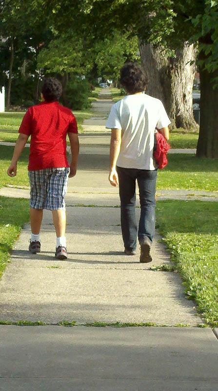 Walking With My Cousin, Who, Happily, Is No Longer An Alien To Me
