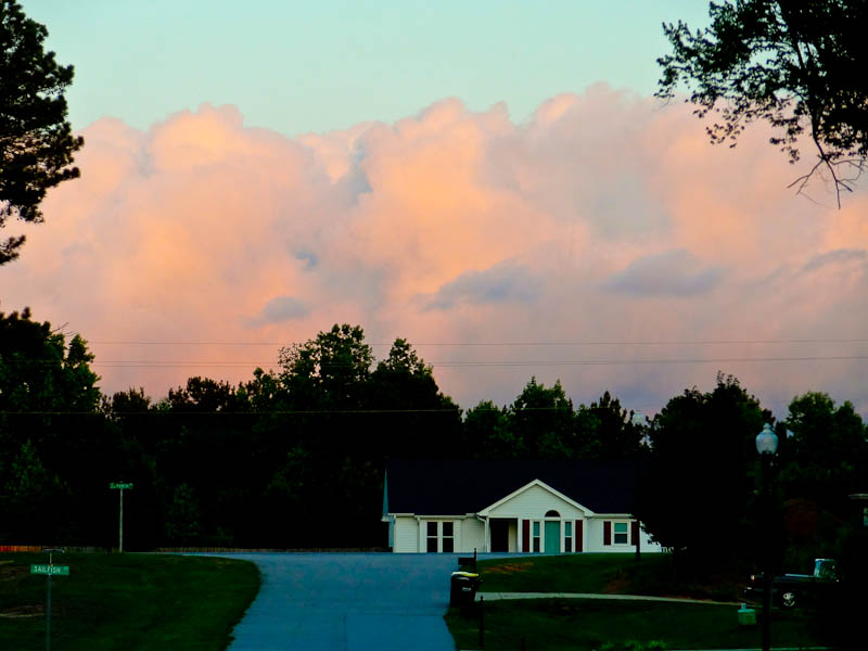 Cotton Candy Clouds In Suburbia - Taken 5-Jun-2012 - Raleigh, NC, USA