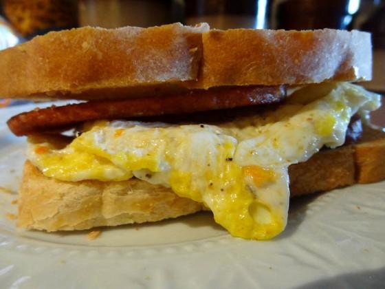 My Spam-Bacon Egg Sandwich