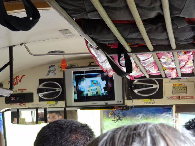 TV In Chicken Bus