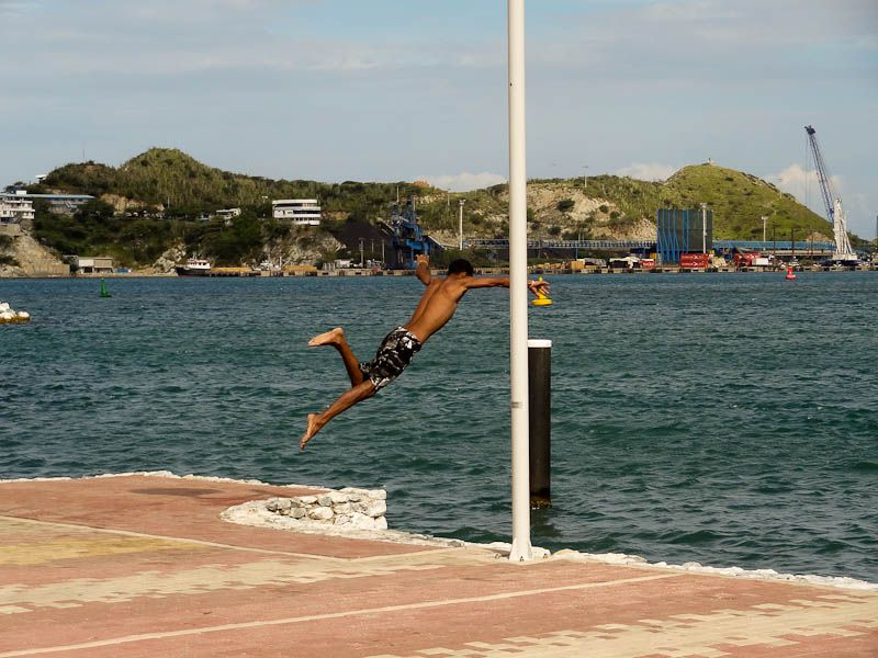 Taking The Plunge - Santa Marta, Colombia