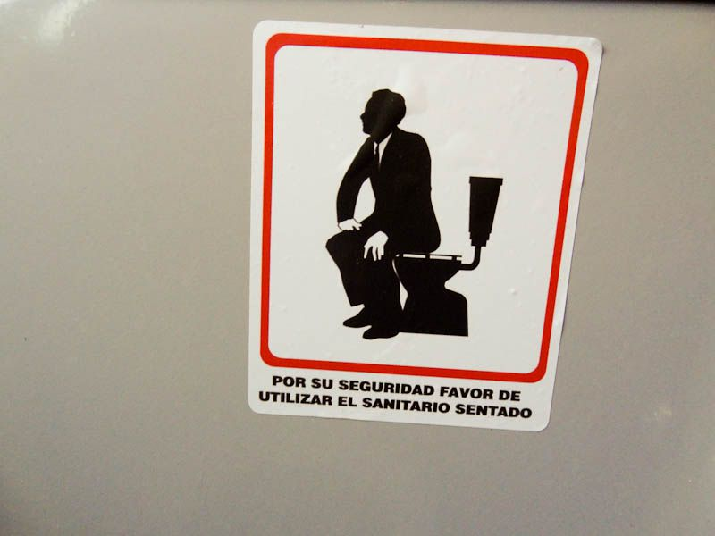 Use The Toilet Sitting Down - But Don't Pull Down Your Pants - Colombia