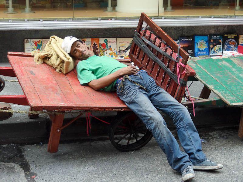 When Sleeping Is An Art - Medellin, Colombia