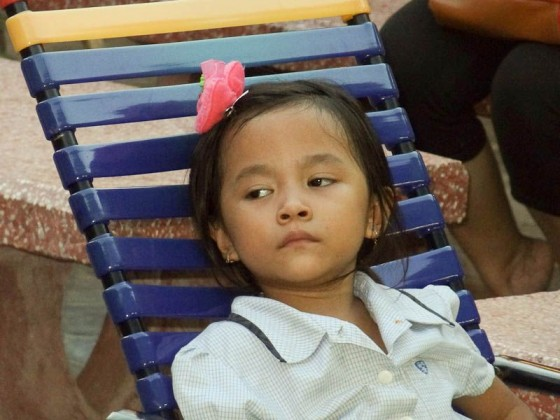 A Cambodian Girl With A Perfect Expression For This Post