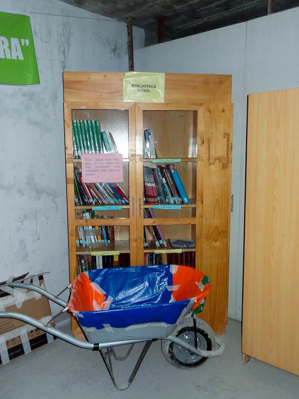 Mobile Library At The Construction Site