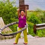 Peaceful Morning Hula Hoop Exercise - Taken 1-Aug-2012 - Vietnam/Laos Border