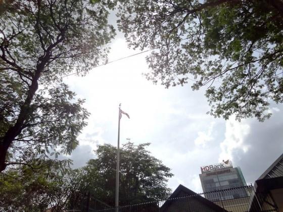Flag At USA Consulate In Saigon