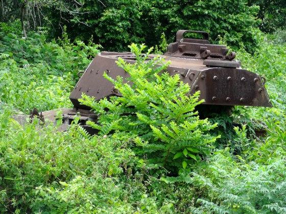 Old U.S. Tank Across From The Cemetery
