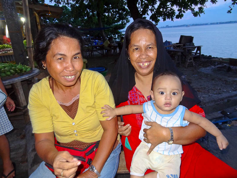 Two Smiles And A Baby In Shock - Taken 21-Sep-2012 - Samal Island, Philippines