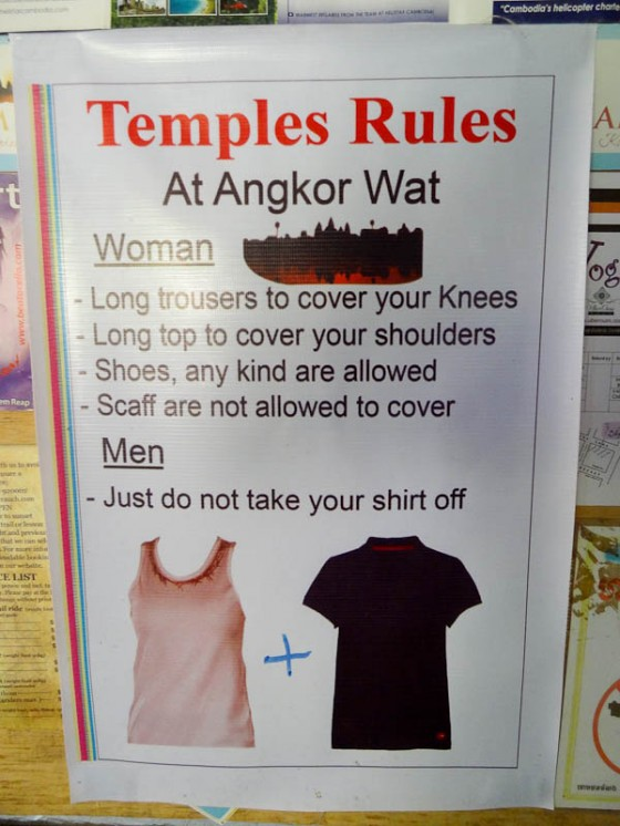 Dress Code At Angkor Wat