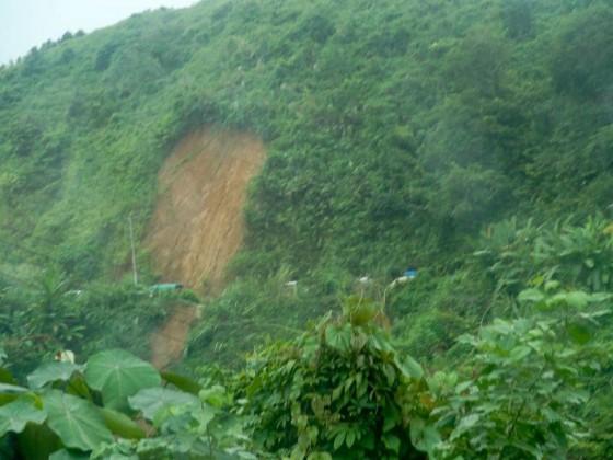 The Landslide From Afar