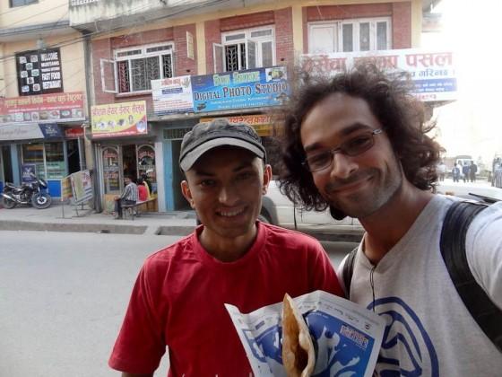 Me With My Tandoori Roti Brother