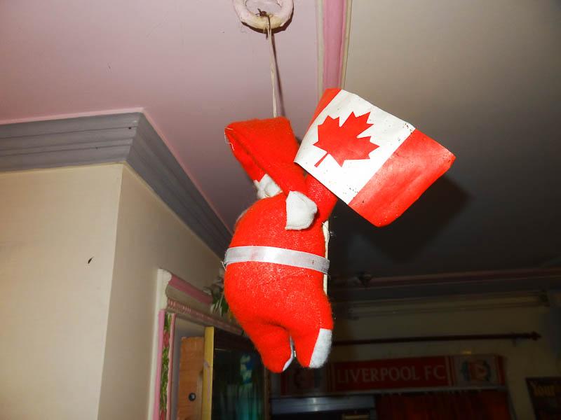 Canadian Santa In A Restaurant In India