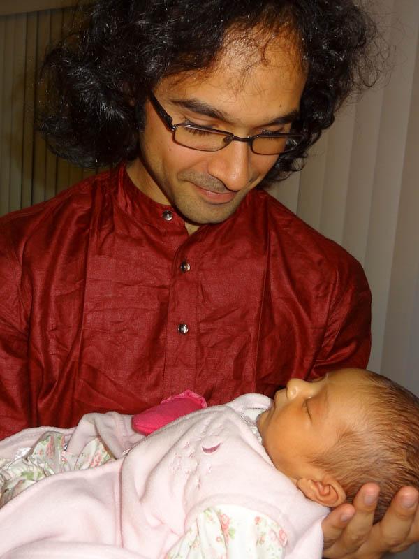 With My Cousin's Newborn Three Days Ago