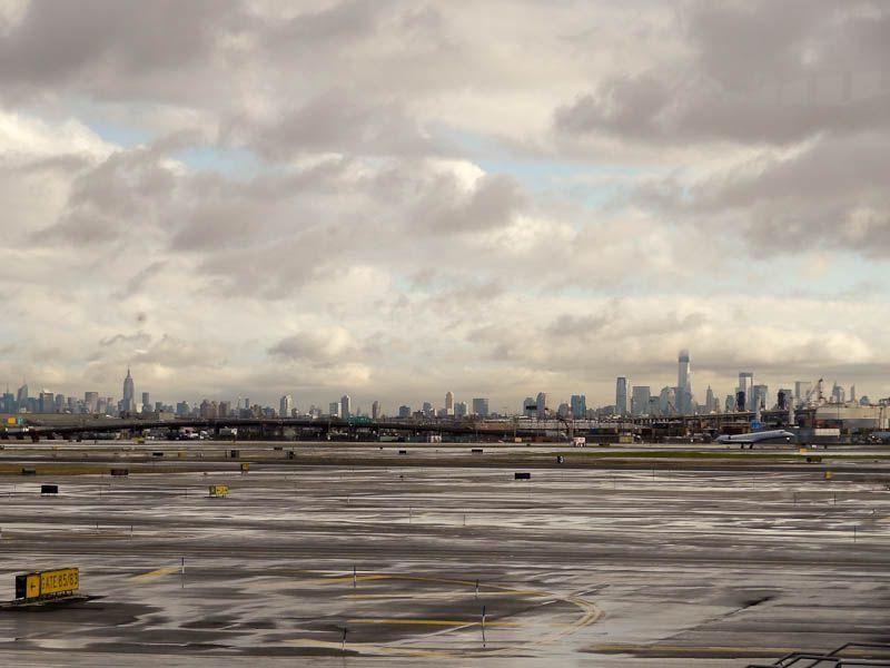 New York Skyline From Newark Airport